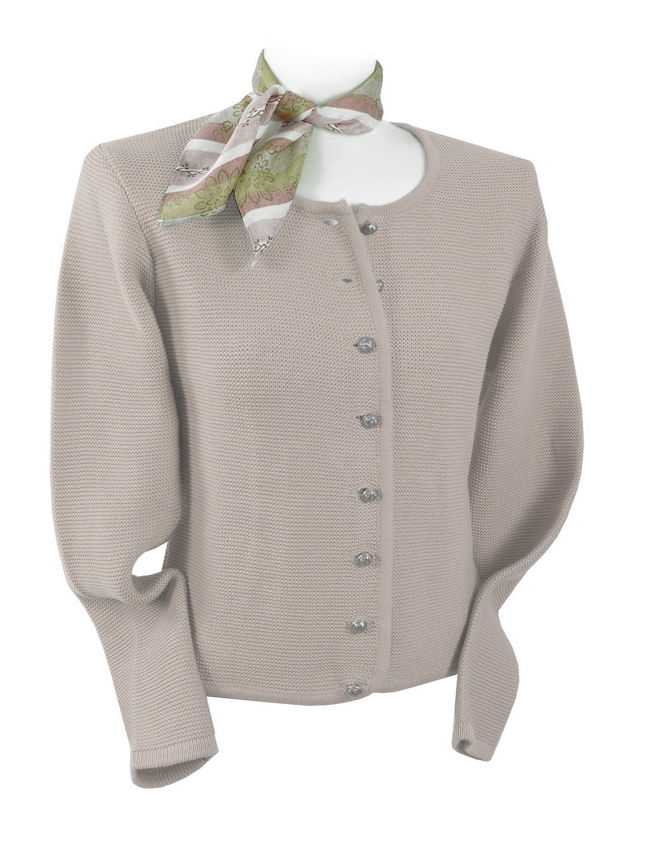 2a52a2d8053f3 Trachtenstrickjacke in Links/Links Beige